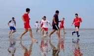 沙滩足球赛